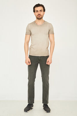 Cazador - CAZ 0119 NON-DENIM PANTOLON SODA HAKI WASH