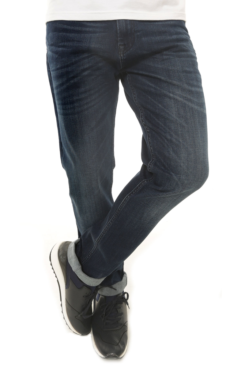 CAZ 0771 TERRY DENIM PANTOLON DEEP NAVY WASH - Thumbnail