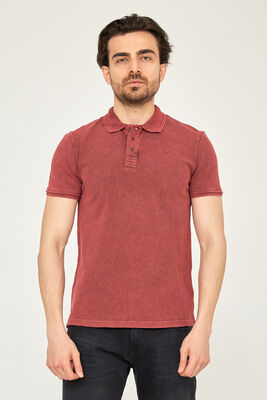 Cazador - CAZ 4217 POLO T-SHIRT BORDO
