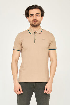 Cazador - CAZ 4614 POLO T-SHIRT SAFARI