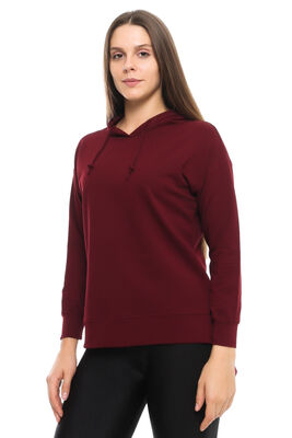 Cazador - CDR 662 KAPŞONLU TUNİK SWEAT BORDO