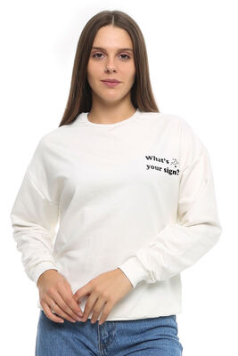 - CDR 7679 WHAT YOUR SİGN SWEATERS EKRU
