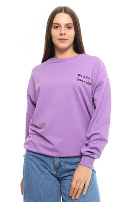 - CDR 7679 WHAT YOUR SİGN SWEATERS LILA