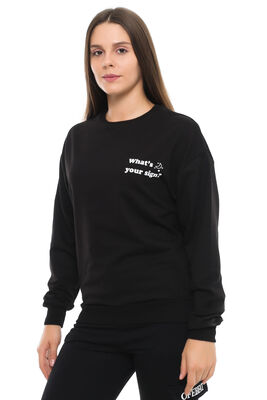 Cazador - CDR 7679 WHAT YOUR SİGN SWEATERS SIYAH